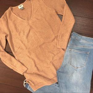 Small Old Navy Camel V-neck Sweater